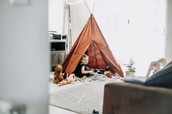 kids room brown teepee play tent