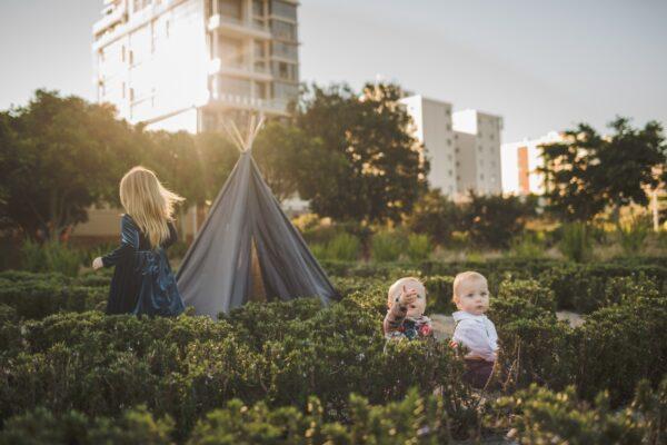 kids grey teepee play tent
