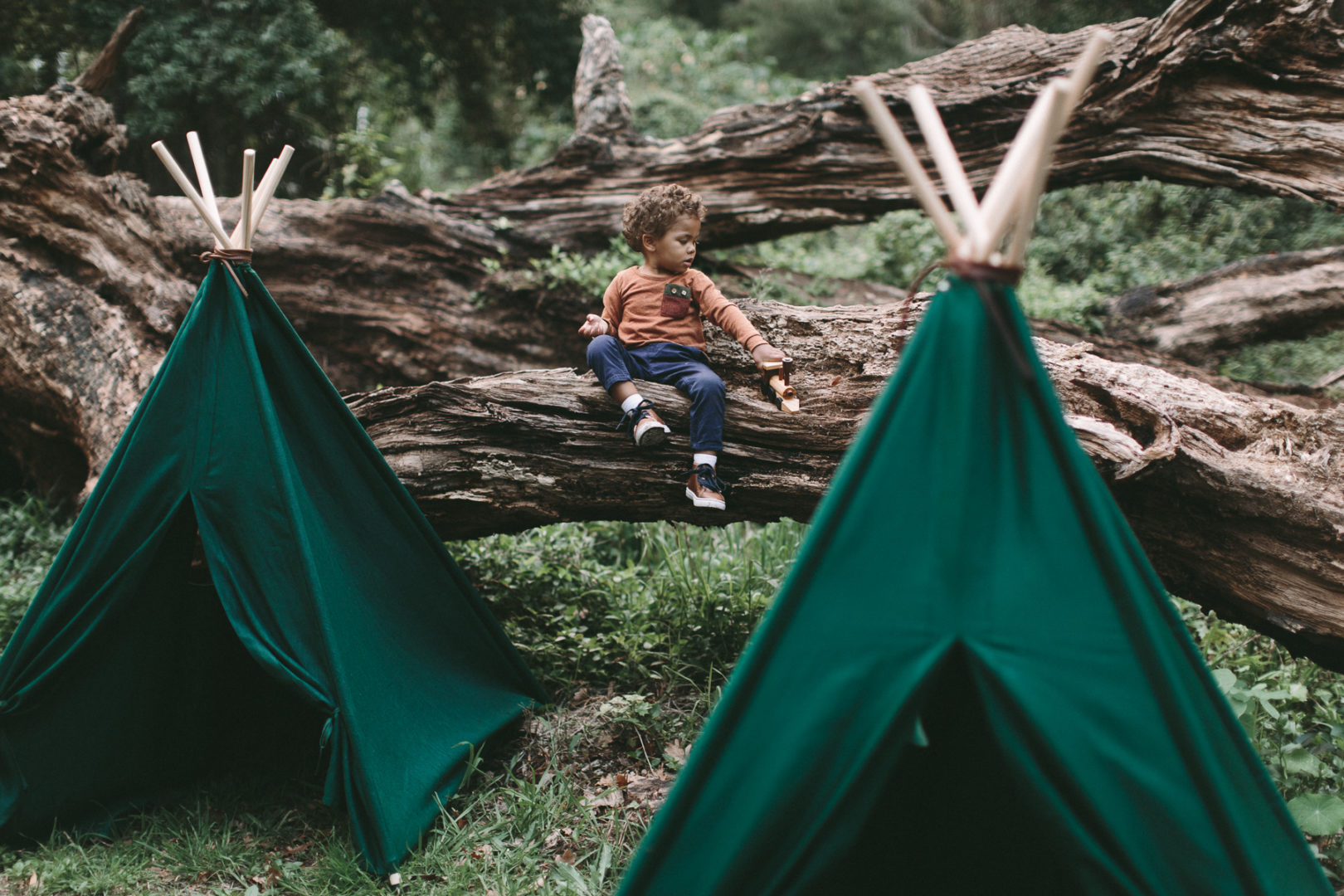kids green teepee play tent forest