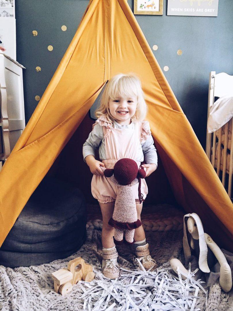 kids room mustard teepee play tent