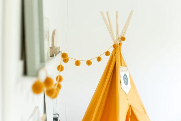kids room mustard yellow teepee play tent