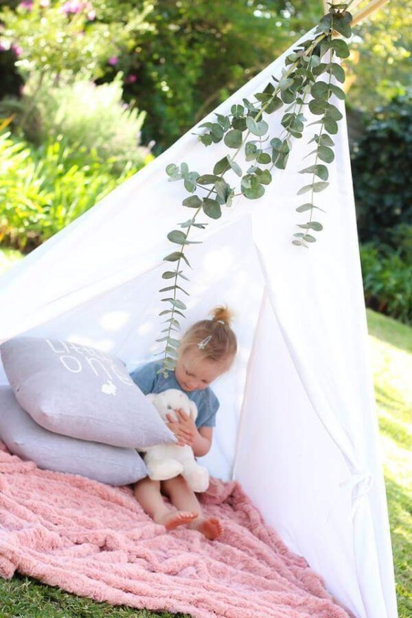 kids white teepee play tent outdoor