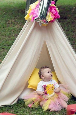 1st birthday photoshoot teepee play tent