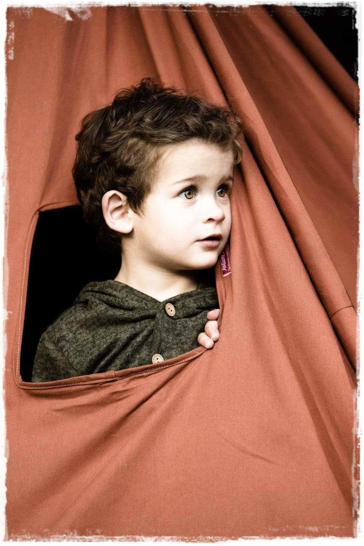 kids brown teepee play tent window