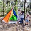 Kids colourful rainbow teepee play tent hide and seek